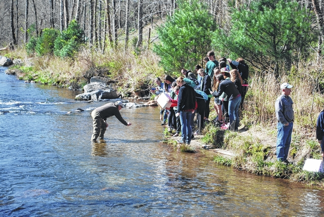 Middle schoolers from surry and wilkes counties release for Stone mountain fishing
