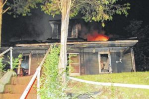 Fire displaces Elkin couple